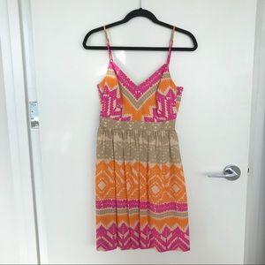 Trina Turk Anargosa Desert Dress Orange Pink 4